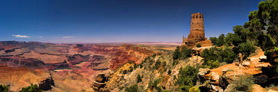 Canyons Painting - Grand Canyon Desert View Watchtower Panorama by Christopher Arndt
