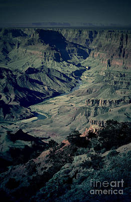 Photograph - Grand Canyon Eastern Sunset View Conte Crayon Lomo by Shawn O'Brien