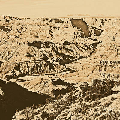 Arizona Digital Art - Grand Canyon Eastern Sunset View Square Rustic by Shawn O'Brien