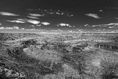 Photograph - Grand Canyon From Desert View Watchtower - Bw by Chris Bordeleau