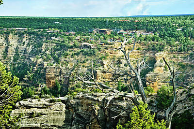 Photograph - Grand Canyon From Hermit Road  by Bob and Nadine Johnston