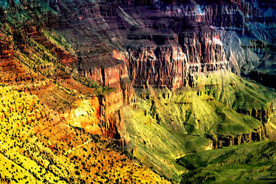 Painting - Grand Canyon Hermit Road Viewpoint  by Bob and Nadine Johnston