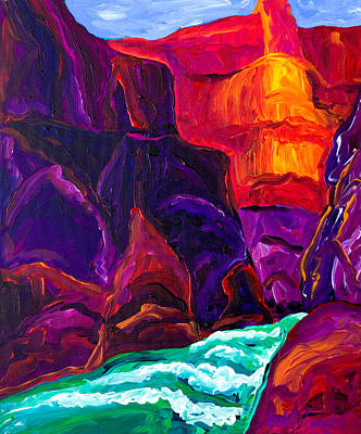 Orange Painting - Grand Canyon II by Beth Cooper