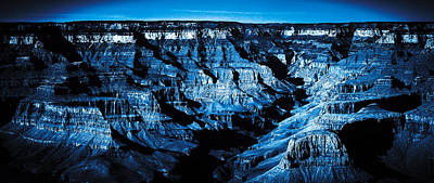Grand Canyon In Blue Art Print
