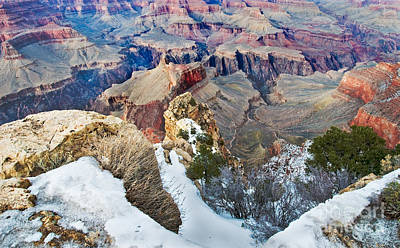 Photograph - Grand Canyon In February by Mae Wertz