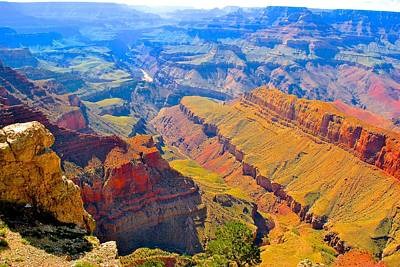 Photograph - Grand Canyon In Vivid Color by Jim Hogg
