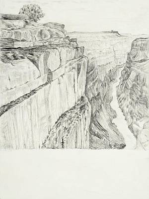 Grand Canyon Drawing - Grand Canyon by Jean Moule