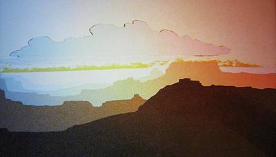 Art Print featuring the painting Grand Canyon by John  Svenson