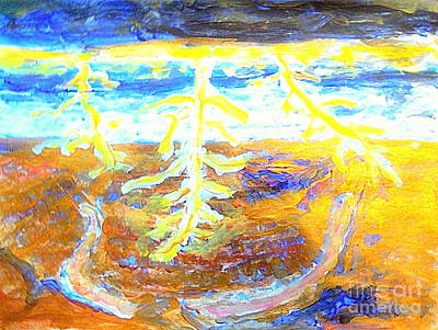 Lightnings Of Arizona Painting - Grand Canyon Lightning 1 by Richard W Linford
