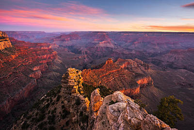 South Kaibab Photograph - Grand Canyon - Morning Glow by Adam Schallau