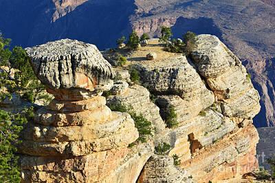 Grand Canyon National Park Cap Rock Formation Closeup Print by Shawn O'Brien