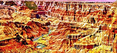 Painting - Grand Canyon Navajo Painting by Bob and Nadine Johnston