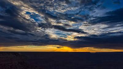 Photograph - Grand Canyon Nightfall by John M Bailey