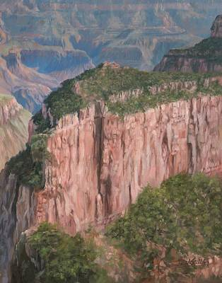 Grand Canyon Painting - Grand Canyon North Rim by David Stribbling