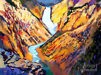 Grand Canyon Of The Yellowstone Art Print by Bernard Marks