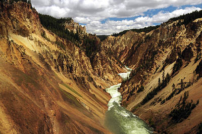 Grand Canyon Of The Yellowstone Art Print by Michel Hersen