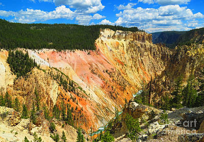 Photograph - Grand Canyon Of The Yellowstone River 01 by Ausra Huntington nee Paulauskaite