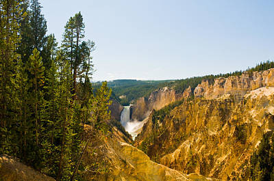 Photograph - Grand Canyon Waterfall Of Yellowstone by Ginger Wakem