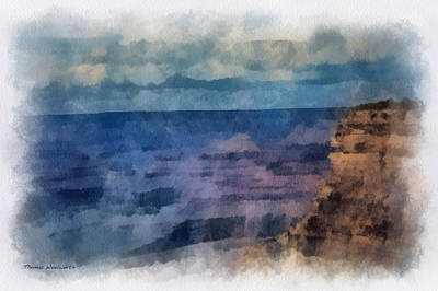 The Natural World Digital Art - Grand Canyon Photo Art 01 by Thomas Woolworth