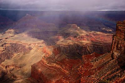 Photograph - Grand Canyon Rainbow by Daniel Woodrum