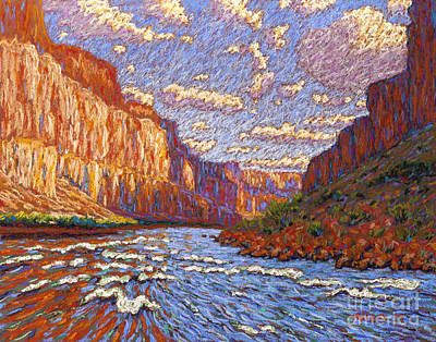 White Water Rafting Painting - Grand Canyon Riffle by Bryan Allen