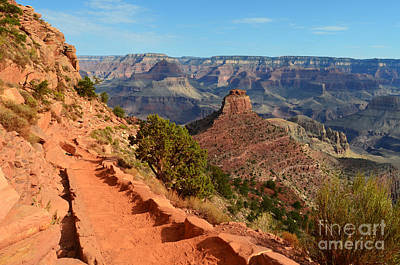 Photograph - Grand Canyon South Kaibab Trail Overlooking Oneill Butte by Shawn O'Brien