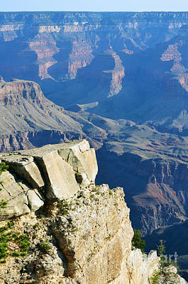 Great Outdoors Photograph - Grand Canyon South Rim Cliffside Overlook Vertical by Shawn O'Brien
