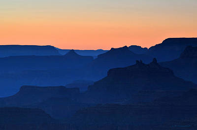 Photograph - Grand Canyon South Rim Navajo Point Sunset  by Nature Scapes Fine Art