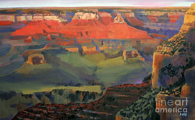 Sunset Grand Canyon Painting - Grand Canyon Sunset by Bernard Marks