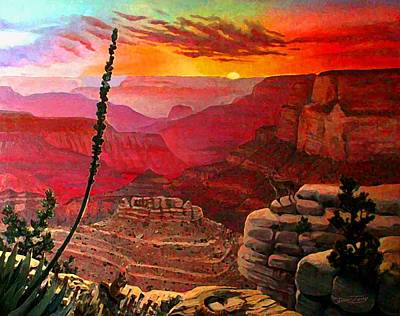 Grand Canyon Sunset Art Print by Dan Terry