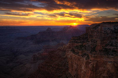 Photograph - Grand Canyon Sunset  by Saija  Lehtonen