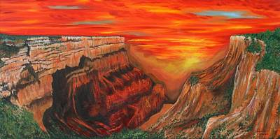 Painting - Grand Canyon Sunset by Terry  Hester
