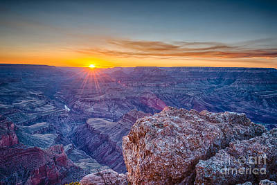 Sunrise Photograph - Grand Canyon Sunset Glow by Tod and Cynthia Grubbs