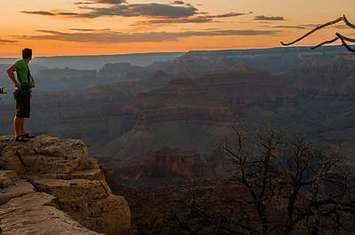 Photograph - Grand Canyon Sunset Wim by Gene Sherrill