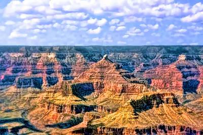 Print featuring the painting Grand Canyon by Tracie Kaska
