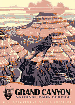 Grand Canyon Digital Art - Grand Canyon Travel by Gary Grayson