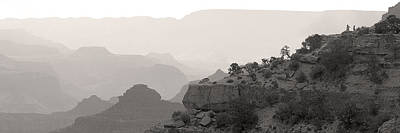 Grand Canyon Waking Up Bw Art Print by Patrick Jacquet