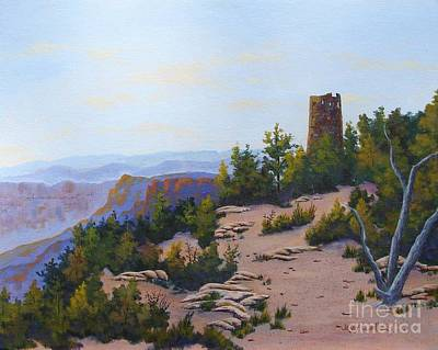 Painting - Grand Canyon Watchtower by Jerry Walker