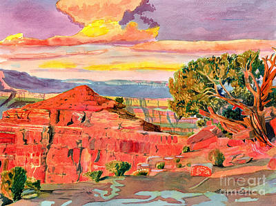 Painting - Grand Canyon West End by LeAnne Sowa