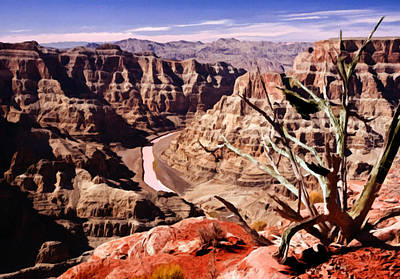 Painting - Grand Canyon West Painting by Bob and Nadine Johnston