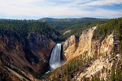 Yellowstone Digital Art - Yellowstone Falls by Georgia Fowler