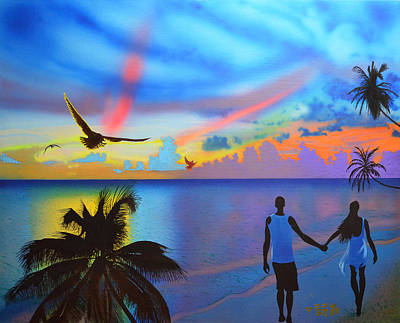 Painting - Grand Cayman Islanders by EBENLO Artist