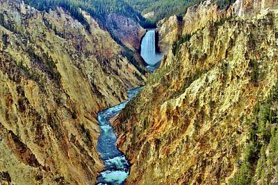 Photograph - Grand Cayon Of The Yellowstone River by Benjamin Yeager