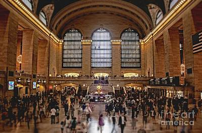 Grand Central Station Photograph - Grand Central by Andrew Paranavitana