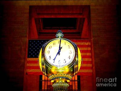 Photograph - Grand Central Clock by Ed Weidman