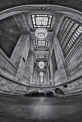 Photograph - Grand Central Corridor Bw by Susan Candelario