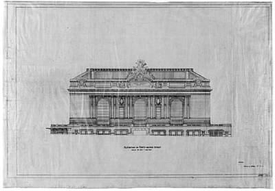 Terminal Drawing - Grand Central Station, 1911 by Granger