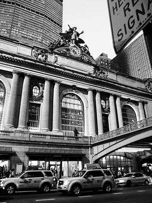 Yellow Photograph - Grand Central Station In Manhattan At Dusk by Ellie Teramoto