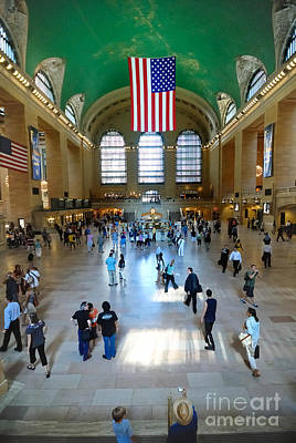 Busy Digital Art - Grand Central Station New York City by Amy Cicconi