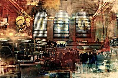 Tripple Photograph - Grand Central Terminal 100 Years by Diana Angstadt